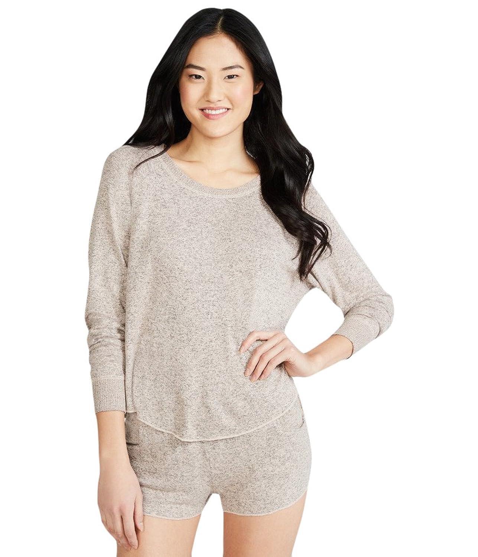 Aeropostale Women's Lld Fuzzy Fleece Crew Sweatshirt