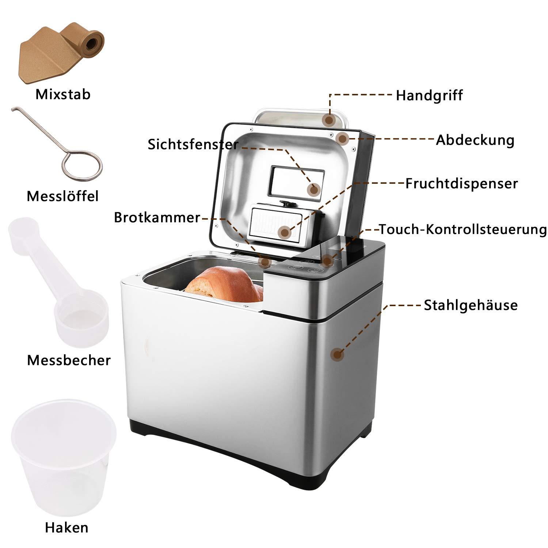 MeyKey - Panificadora (Bread Maker Panificadora Acero Inoxidable ...