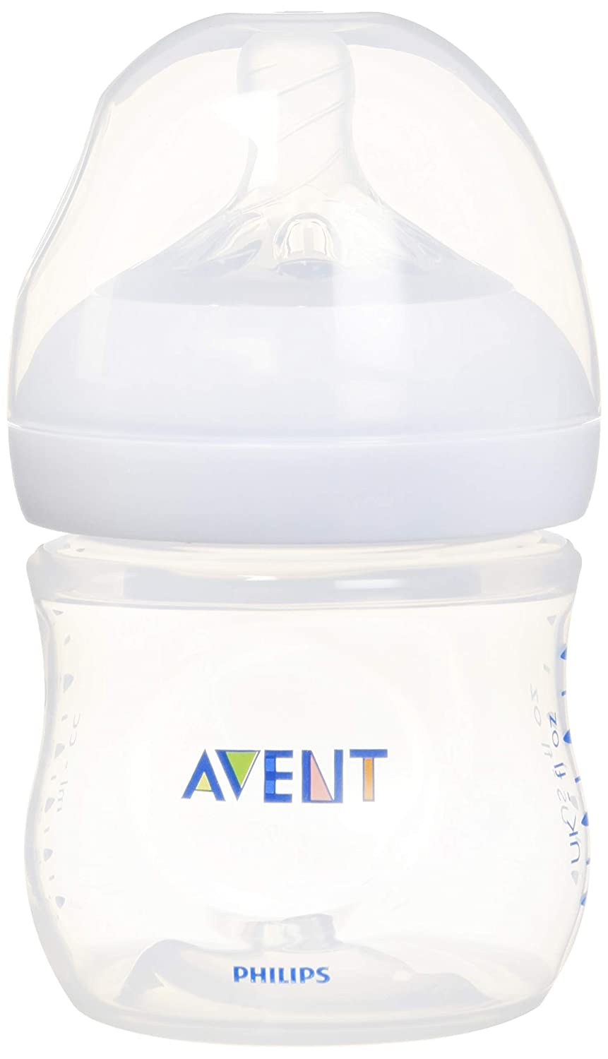 Philips Avent Natural Baby Bottle, Clear, 4oz, 1pk, SCF010/17 75020068149