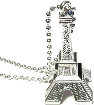 Vintage Eiffel Tower Mirror Pendant Necklace in Silver or Bronze Real Mirror Pendant Necklace Vintage Paris France Mirror Necklace