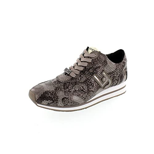 liu jo - Zapatillas de Tela para Mujer Pitone Grigio Size: Pitone/Grigio: Amazon.es: Zapatos y complementos