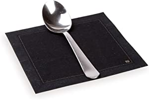 Napluxe Organic Cotton Cocktail Beverage Napkins - Soft and Durable 4.5