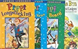 The Pippi Longstocking 4-Book Set: Pippi Longstocking, Pippi Goes on Board, Pippi in the South Seas, and Pippi on the Run