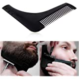 Premium Beard Shaping and Styling Template Comb Shaper Tool (Black)