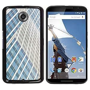 Be Good Phone Accessory // Dura Cáscara cubierta Protectora Caso Carcasa Funda de Protección para Motorola NEXUS 6 / X / Moto X Pro // Building Lines City Skyscraper