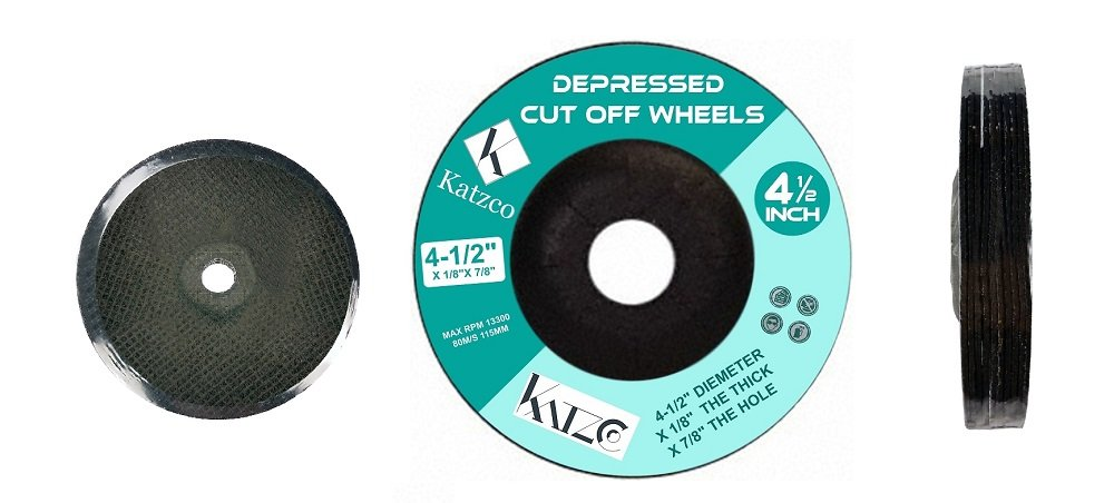 """9/"""" X .125 X 5//8/""""-11 TYPE 27 CUTTING WHEEL FOR STAINLESS//METAL 10 PACK"""