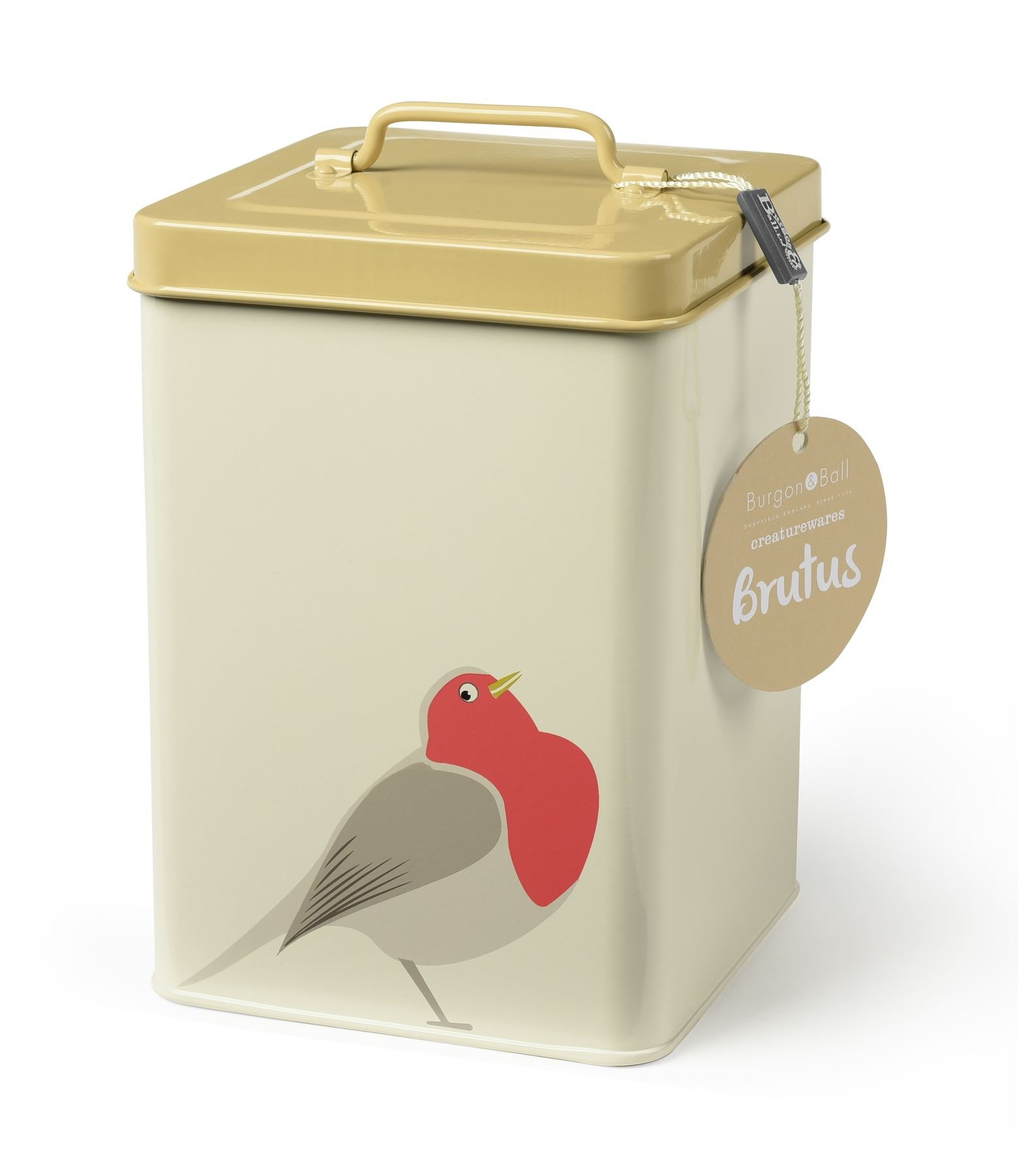 Burgon & Ball Creaturewares GCR/ROBIN Pet Food Storage Tin Brutus' Robin by Burgon & Ball