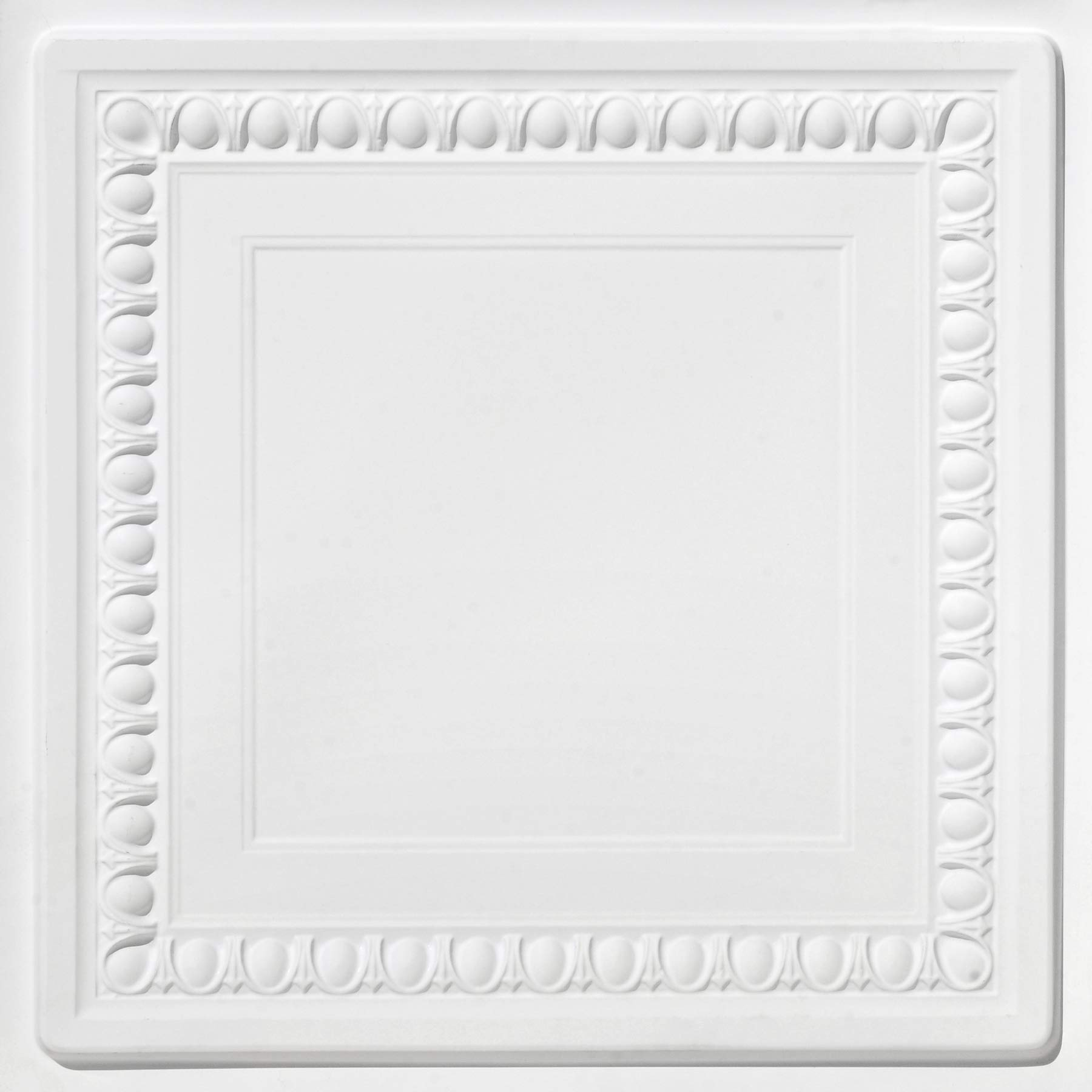 From Plain To Beautiful In Hours DCT06wm-24x24-25 Cambridge Ceiling Tile White Matte 25