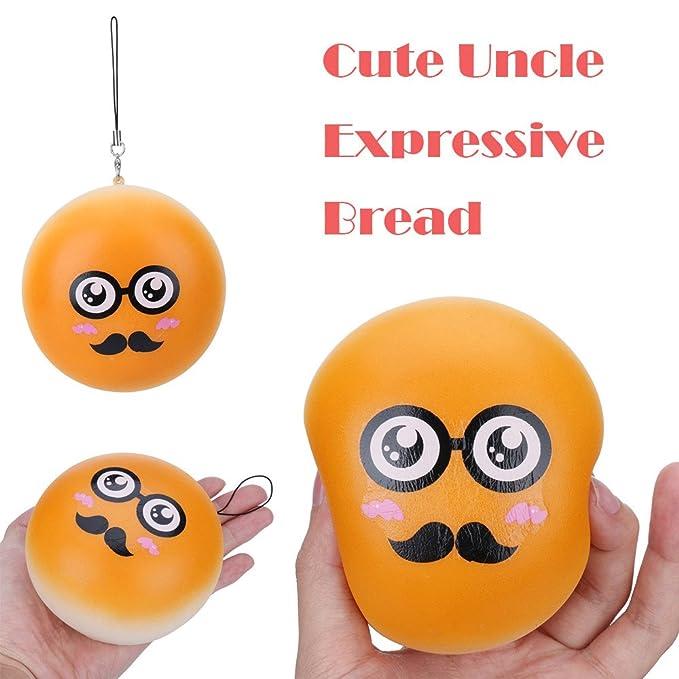 EUZeo_Toy Juguetes de limpieza de juguetes, EUZeo, 10 cm, mochi, juguetes blandos, crema, aroma al azar, Emoji, pan, pan, esquisitas, exprimir, ...