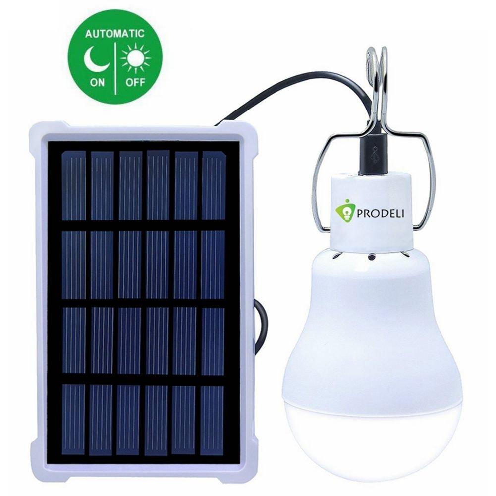 PRODELI ソーラーLED電球のアップグレードポータブル1.5W S - 1200 130LMソーラーLEDライトランプ室内緊急リーディングと屋外ハイキングキャンプテント照明 B01HY4RIHM 26268