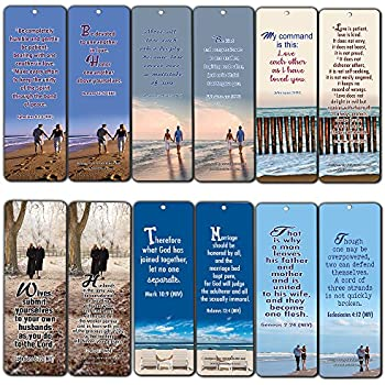 Bible Verses About Marriage Bookmarks (12-Pack) - Great Bible Tips on How  to Maintain a Christ Centered Marriage for Husband and Wife