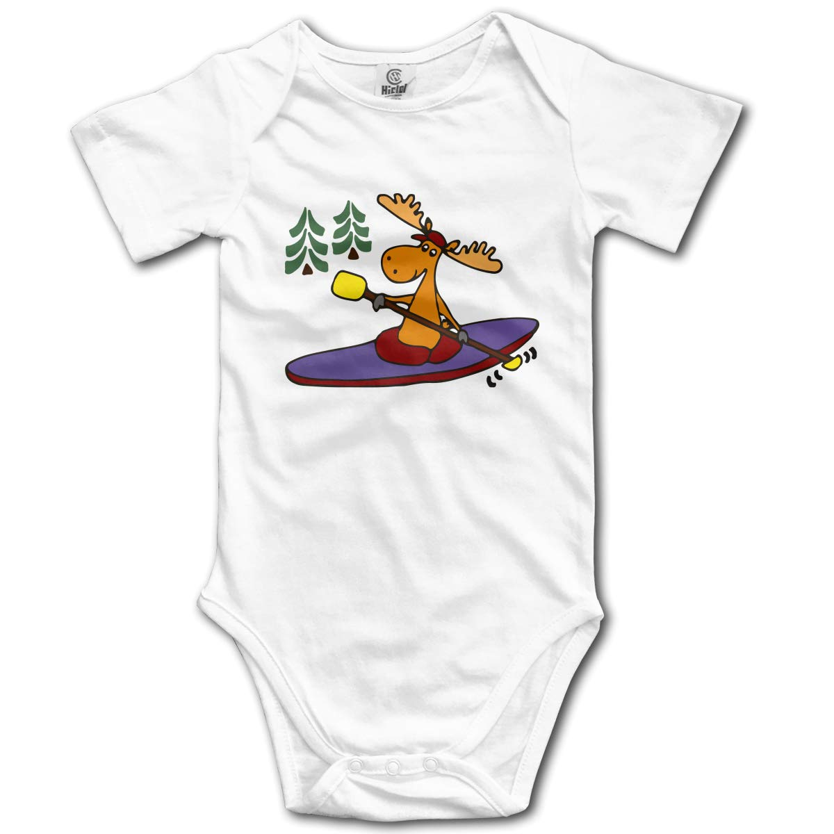 Kayaking Moose Unisex Solid Baby 100/% Organic Cotton Outfits Sunsuit Clothes 0-2T