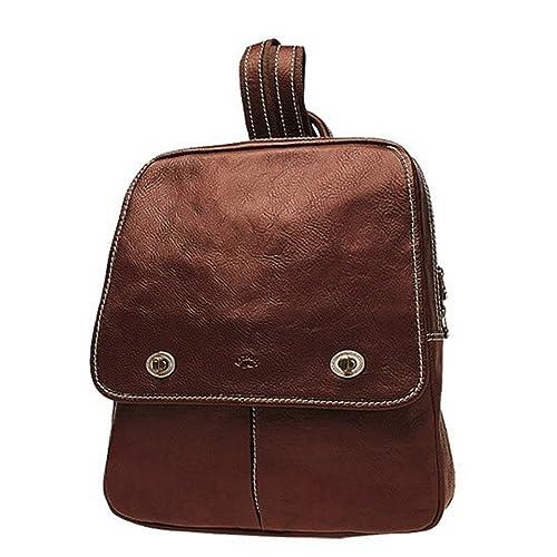 25fa0dde44d Katana - Bolso mochila de Piel para mujer Marrón marrón  Amazon.es  Zapatos  y complementos