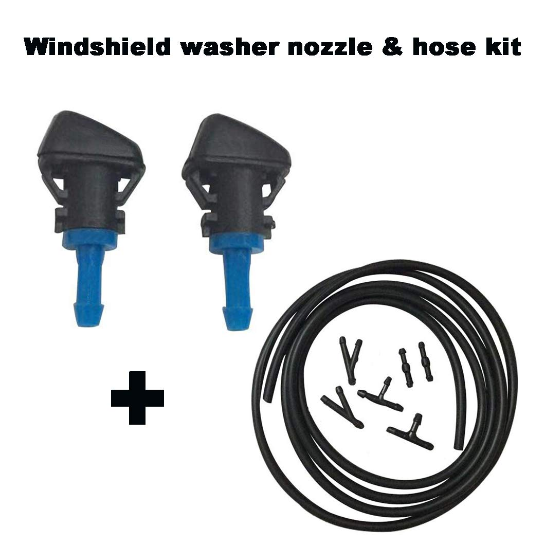 7Ft Long 4805742AB RAM TRUCK DODGE JEEP 68024312AB 55077460AA ZHParty WINDSHIELD WASHER WIPER NOZZLE SPRAYER with Connector /& Hose kit Direct Replacement for CHRYSLER Replaces OEM # 5116079AA