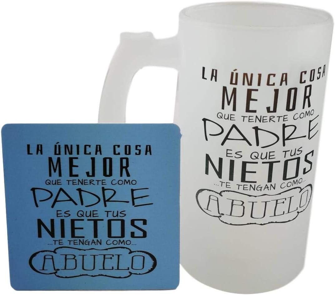 MISORPRESA Jarra DE Cristal con Posavasos de Regalo Frase Padre Y ...