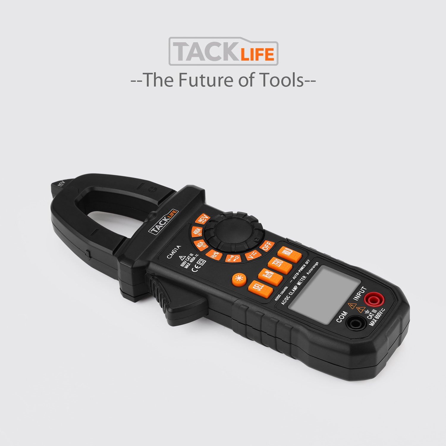 Multimeter, Tacklife CM01A Clamp Meter 4000 Counts Auto-Ranging Digital Tester with NCV, AC/DC Voltage, Current, Ohm, Continuity Electrical Tester, Diode, Resistance,Capacitance Meters by TACKLIFE (Image #9)