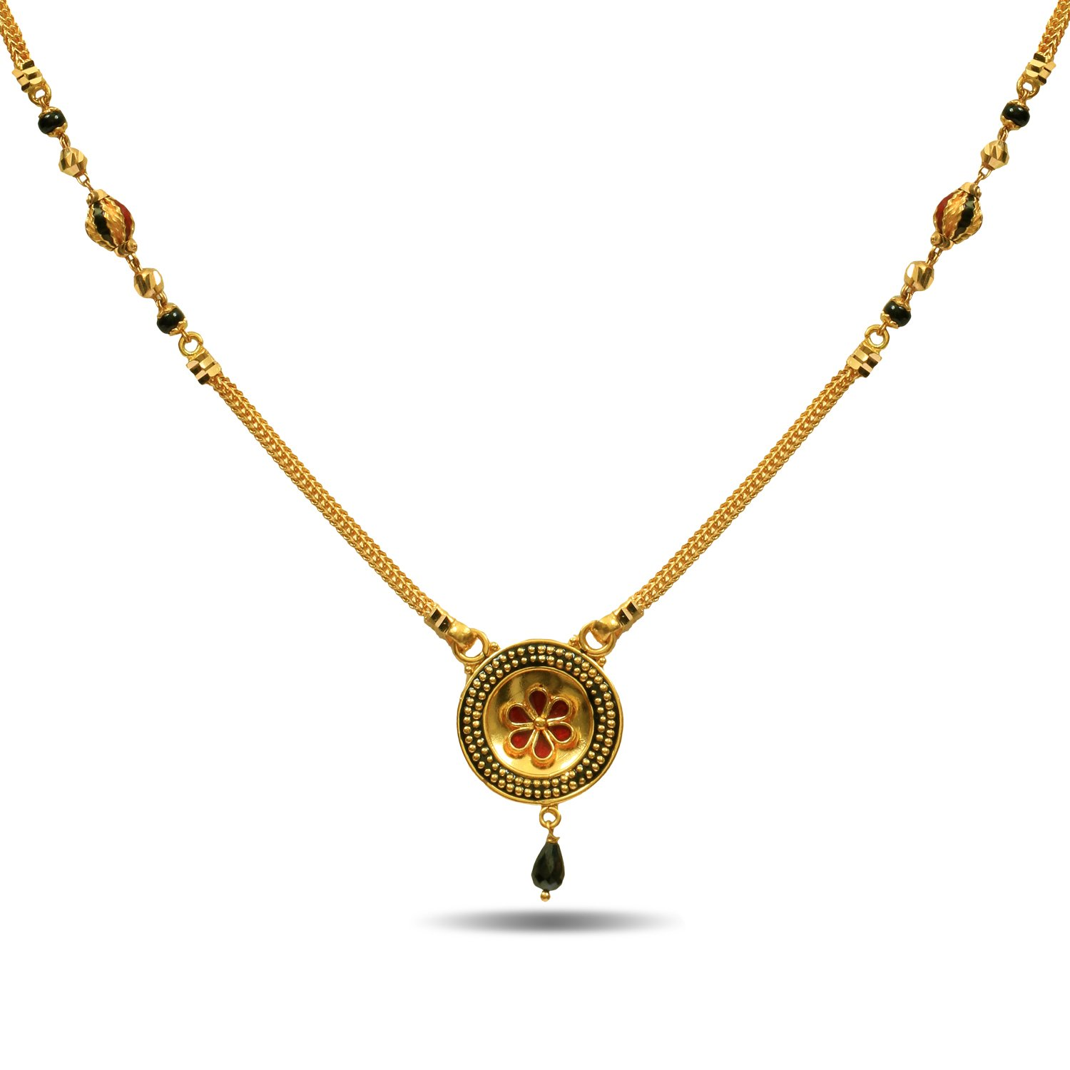 P.N.Gadgil Jewellers 22k Yellow Gold Mangalsutra Necklace: Amazon ...