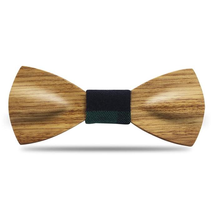 YFWOOD Pajarita, hecho a mano maderas de corbata única palos de ...
