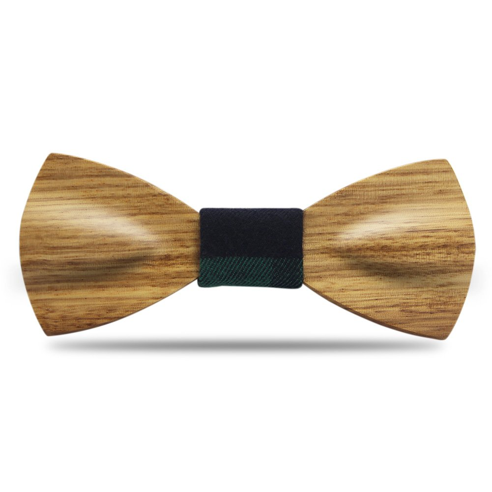 Men Bow Ties YFWOOD Unique Pre Tied Bowtie Vintage Wood Necktie Wedding Party BowtieMen Bow Ties Pre Tied Wooden Bowtie Vintage Wood Necktie Wedding Party Necktie