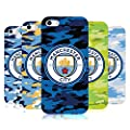 Official Manchester City Man City FC Badge Camou Soft Gel Case for iPhone 5 iPhone 5s iPhone SE