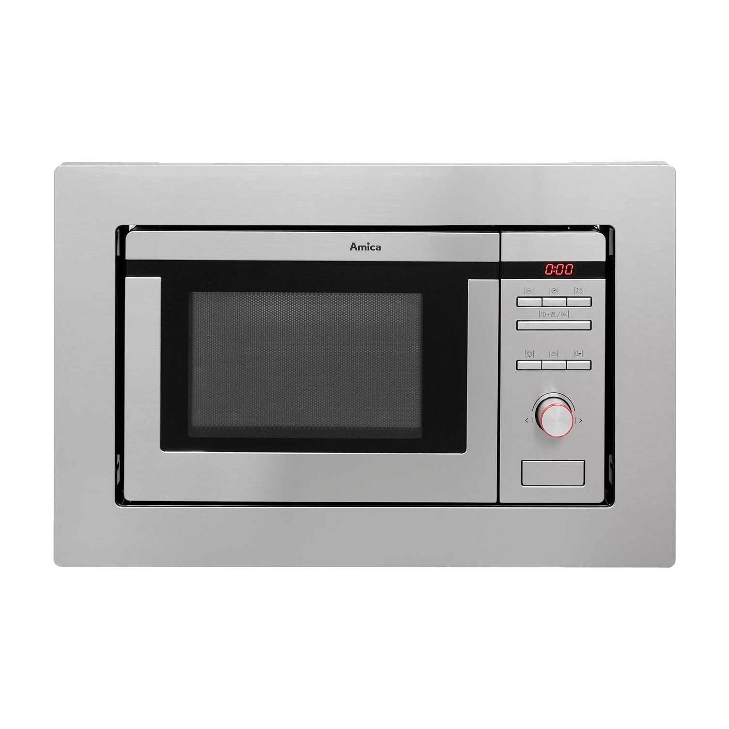 Amica 800W 20L Built-in Microwave with Grill - Stainless Steel AMM20G1BI