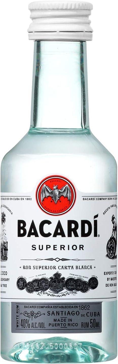 Botellita miniatura ron Bacardi 5cl: Amazon.es: Alimentación y ...