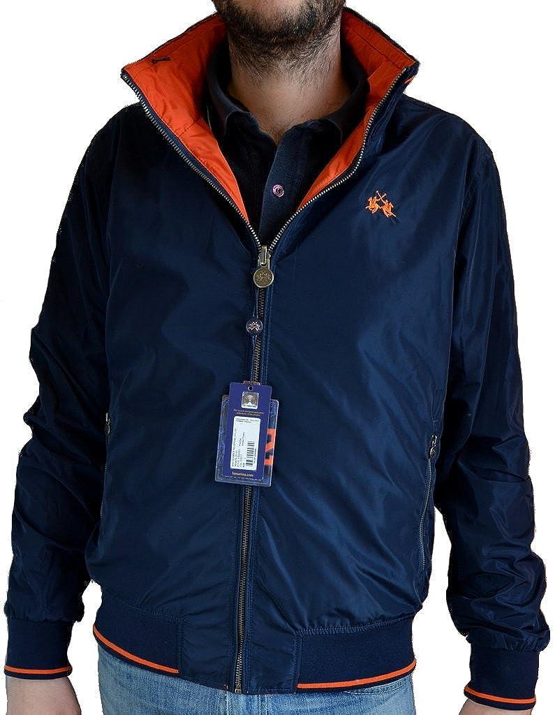 Giacca Giubbotto Bomber Reversibile Uomo La Martina Jacket Men Reversible Navy/Orange sseanson 20151