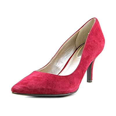 Alfani Womens Jeules Leather Pointed Toe Classic Pumps, True Red, Size 8.0: Shoes