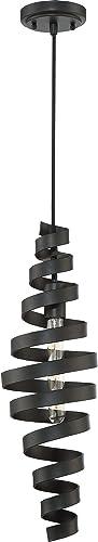Craftmade P715MBK1 Pendant Metal Swirl Mini Pendant Lighting, 1-Light, 60 Watts, Matte Black 7 W x 23 H