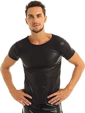 MSemis Camiseta Músculo de Charol para Hombres Camisa ...
