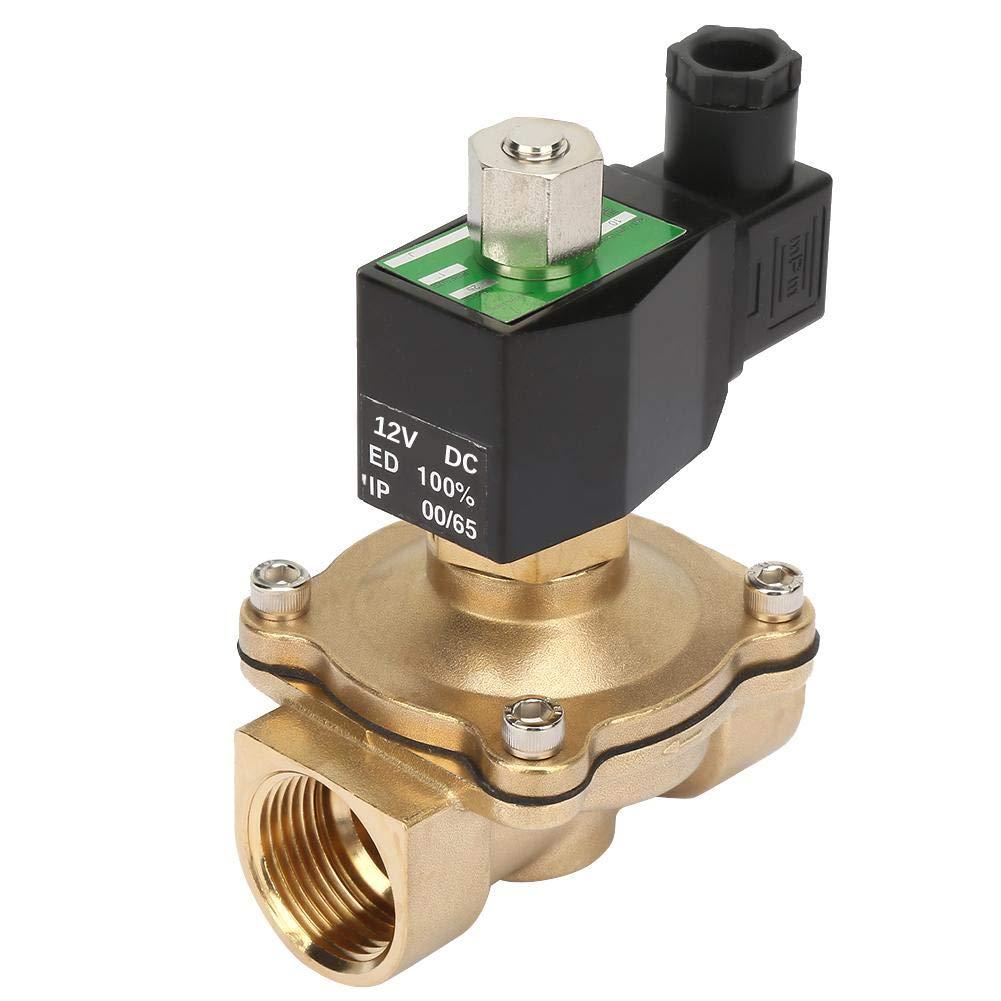 Fluid Controller G1 Electric Solenoid Valve DN25 NC Brass Electromagnetic Magnetic Valve DC12V Electric Solenoid Valve