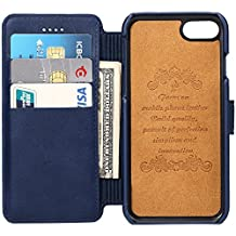 leather iPhone case Wallet Phone Case with 2 ID Credit Card Slot Holder Flip Cover protect IPHONE 6/6s/6plus/7/7plus