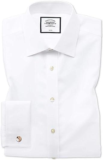 Camisa sin Plancha Blanca de Tela Royal Panama Slim fit sin Plancha: Amazon.es: Ropa y accesorios