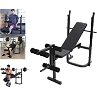 Weight Bench 3 Level Adjustable, Strength Training Bench Foldable, Barbell Bench, Lifting Press Bench, Incline Decline Bench, Fitness Exercise Bench, Home Gym Bench, Bearing Capacity 440LBS