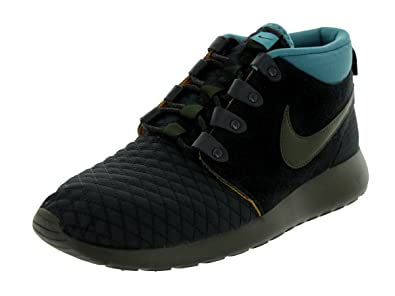 quality design 907a1 62b86 Nike Roshe Run Black Sneaker Boot Suede Mens Trainers Size 7.5 UK