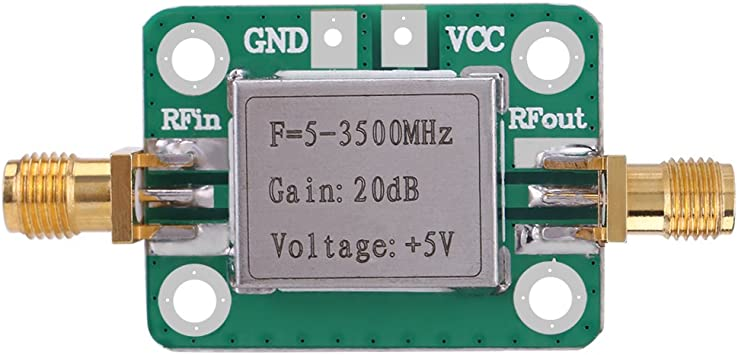 Amplificador, LNA 5-3500MHz 20dB Ganancia Amplificador RF de bajo ...