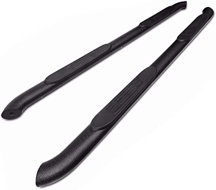 TAC Side Steps Running Boards Compatible with 2005-2020 Toyota Tacoma Double Cab Truck Pickup 4 Oval Bend Texture Black Side Bars Nerf Bars Exterior Accessories 2Pcs