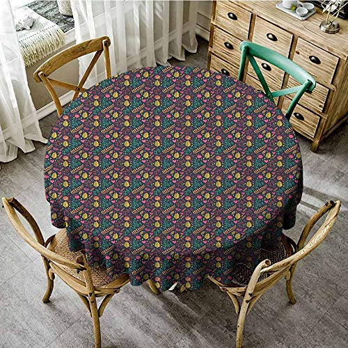 (round tablecloth tuscan theme 40