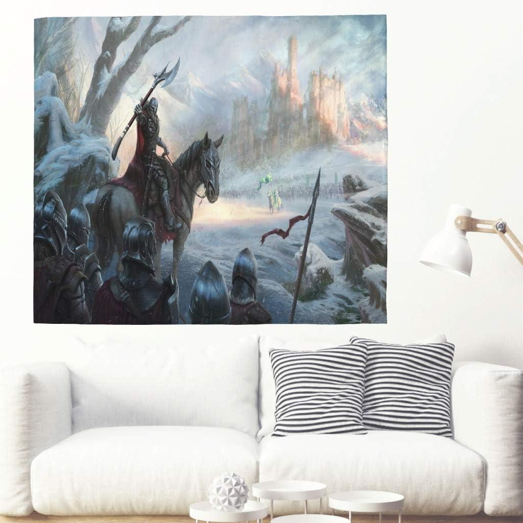 Tapisserie fantaisie /à suspendre au mur Vikings Warrior D/écoration murale psych/éd/élique D/écoration murale artistique D/écoration de la maison pour salon blanc dortoir 59x51inch chambre /à coucher