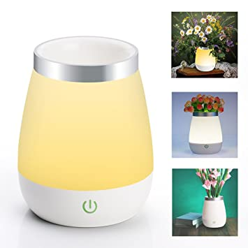 Veesee Rechargeable Baby Night Light Cordless Vase Table LampTouch Sensor Dimmable Beside Bed