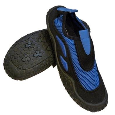 5a7d6ea9bcfb Sand N Sun Mens Blue   Black Aqua Socks Beach   Water Shoes 8