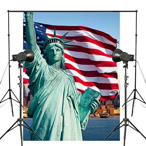 [Statue of Liberty Background Greek Costumes Photography Backdrop Studio Props Wall American Flag Photo Backdrop] (Greek Stage Costumes)