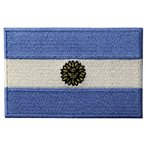 Argentina Flag Embroidered Argentinian National Emblem Iron On Sew On ()