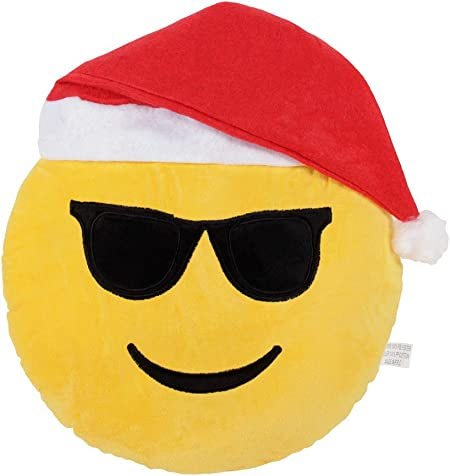 Emoticon Babbo Natale.Cuscino Decorativo Emoji Diametro 35 Cm Peluche Cappello Da Babbo Natale Emoticone Faccine Divano Molto Morbido Confortevole Decorazione Idea Regalo Ki 48 Cool Xmas Amazon It Casa E Cucina