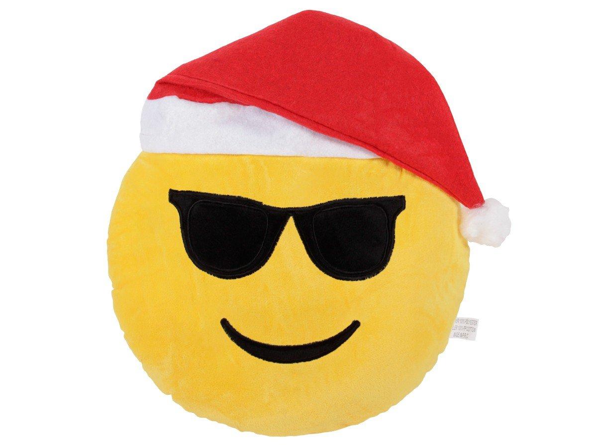 Amazon.de: Emoji Kissen Cooler Nikolaus Weihnachtskissen (ki-48 ...