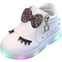 Zapatos de bebé, ASHOP Niña Moda Casuales Zapatillas del Otoño Invierno Deporte Antideslizante del Zapatos Crystal Bowknot LED Botas Luminosas 0-6 Años