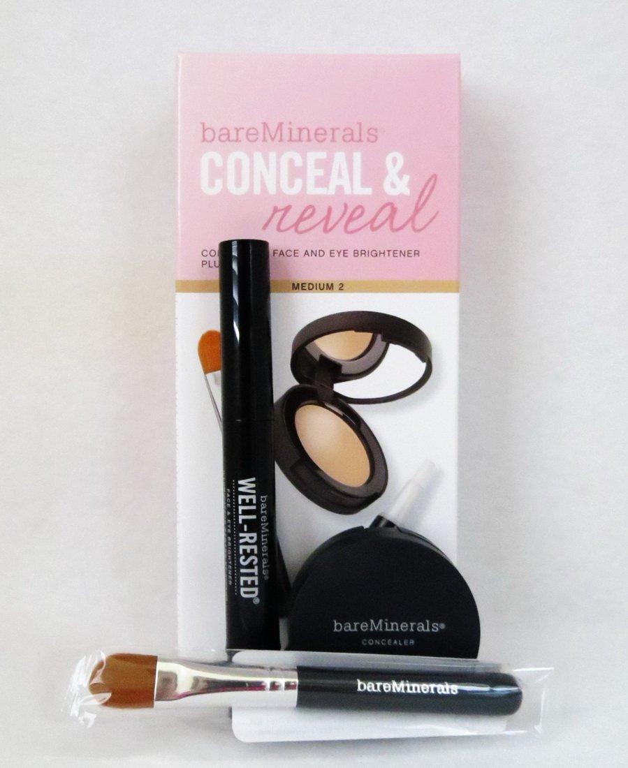 Bareminerals Conceal & Reveal Concealer Face and Eye Brightener Plus Brush Medium 2