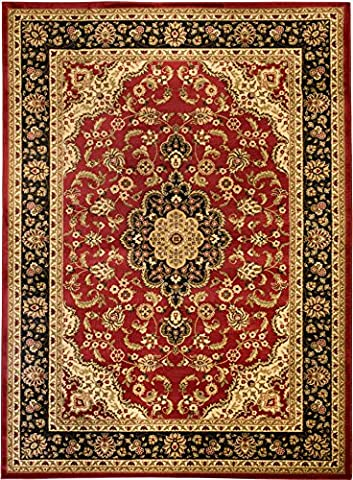 Well Woven Barclay Medallion Kashan Red Traditional Area Rug 6'7'' X 9'6'' - Kashan Red Rug