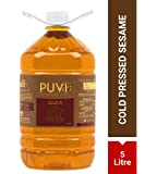 Puvi Cold Pressed Gingelly/Sesame Oil (Virgin, Chekku/Ghani) (5 LTR)