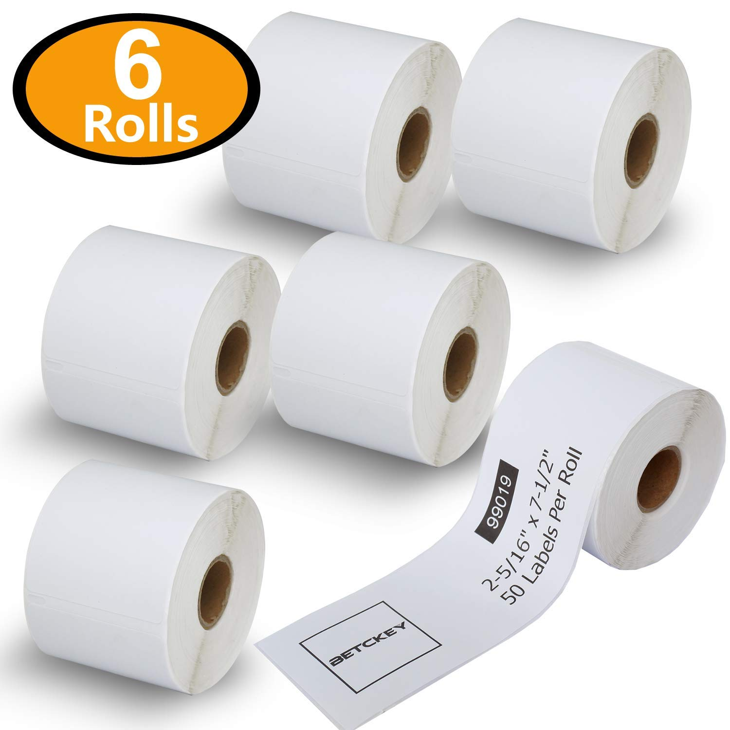 6 Rolls Dymo 99019 Compatible 2-5/16'' x 7-1/2''(59mm x 190mm) Internet Postage Labels,Compatible With Dymo 450, 450 Turbo, 4XL And Many More
